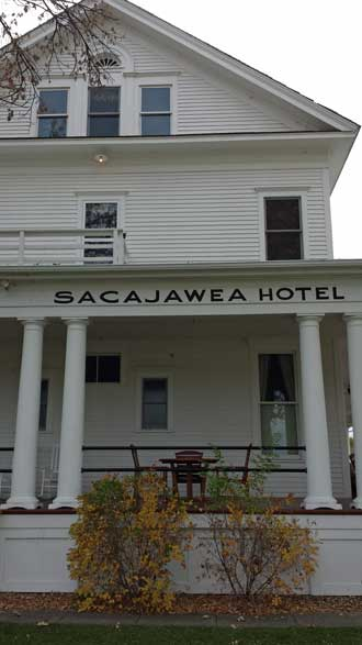 Sacajawea Hotel in Three Forks, Montana, Behind: All cousins