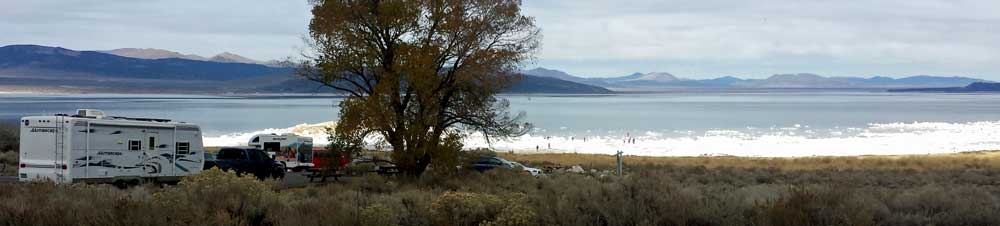 Lunch stop at Mono Lake, eastern California on highway 395