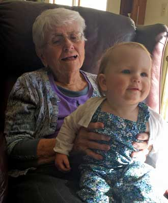Great Grandma and Great granddaughter Lucy