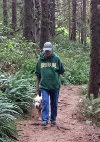 Our final hike on the coast, into the Hemlock forest