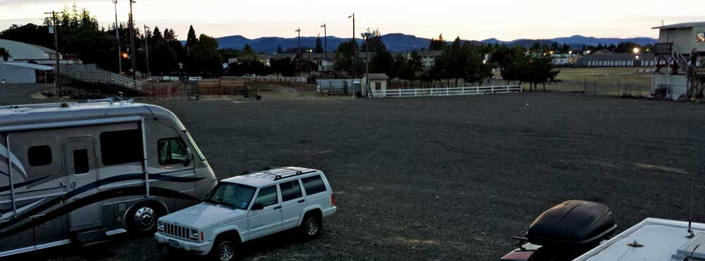 Yamhill County Fairground parking area for RVs