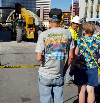 Visiting downtown Reno to see the Virginia Street bridge construction