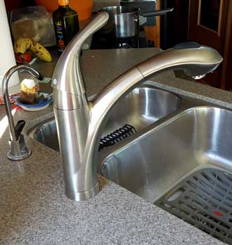 New faucet installed
