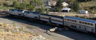 Amtrack on the Truckee River