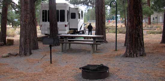 At the Alpine Meadow campground