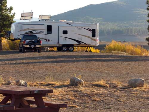 Boondocking at Boca Reservoir, October 2009