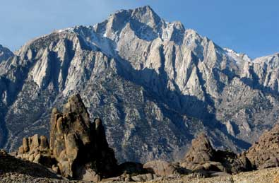 Mt Whitney from our campsite in the Alabama Hills
