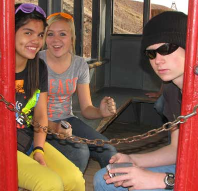 Aboard the Calico and Western Train caboose