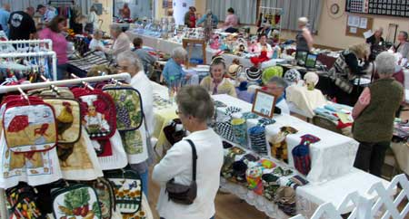 Craft show at the senior center