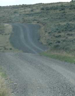 Our adventure takes us onto another gravel road