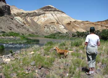 Going for a stroll along the Owyhee