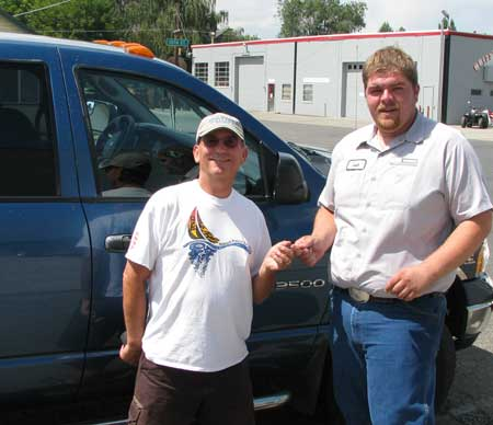 Josh, service advisor at Rowder River Motors, returns our truck in working order