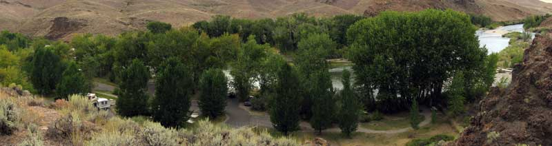 Cottonwood Campground on the Salmon River