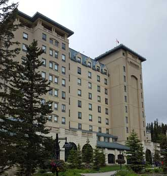 The Fairmont on the shores of Lake Louise