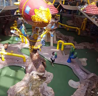 Miniature golf course inside the mall