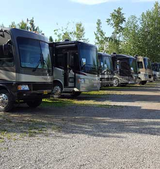 Our Fort Nelson parking location at Triple G RV Park
