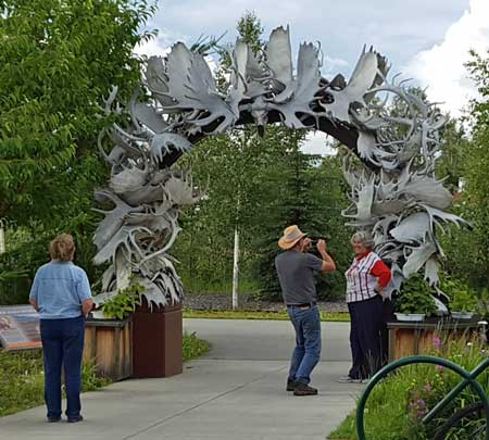 The antler arch to enter Fairbanks