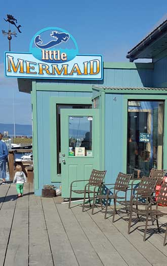 A restaurant recommended for great seafood