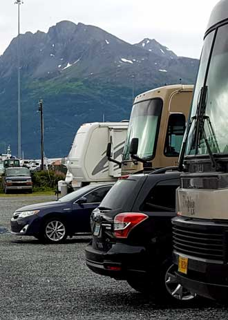 Alaska RV parks must make their money in the short summer so they cram in as many RVs as possible.