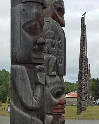 A totem village on our way to Smithers, BC