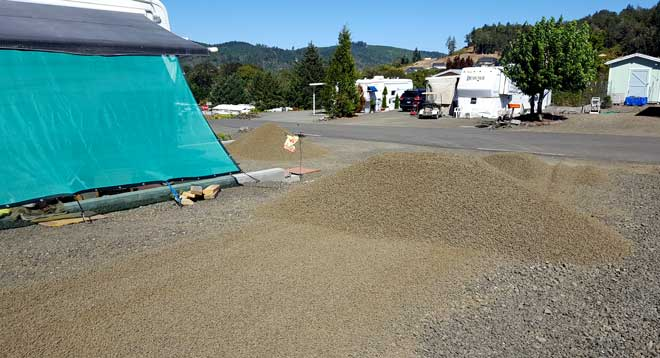Time for new gravel on our lot