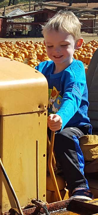 Still at the pumpkin patch on the dozer