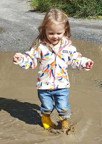 The puddles were the best!