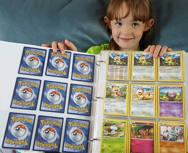 Chloe has a Pokemon card collection