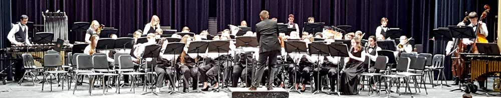 Roseburg High School Winter band concert