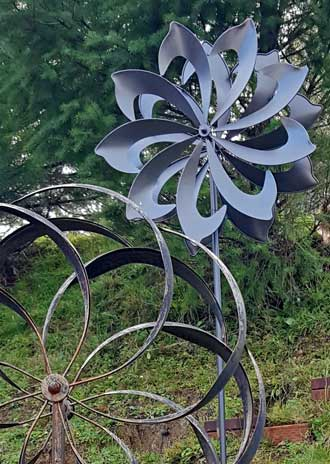 An addition to our wind activated yard art