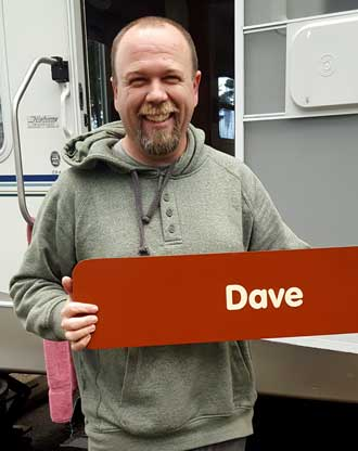 Dave's new camp host sign provided by Oregon State Parks
