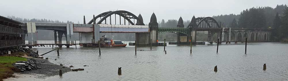 Florence bridge over the Siuslaw River