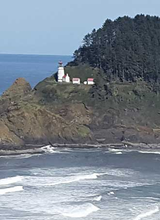 Approaching the Heceta Head Lighthouse