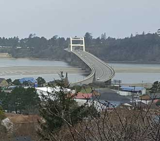 Waldport bridge over the Alsea River