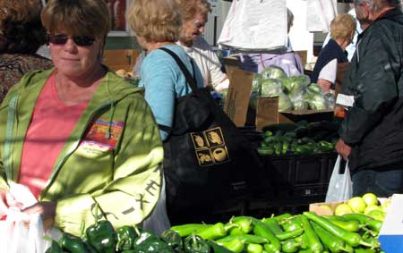 Shopping at the Yuma Farmer's Market