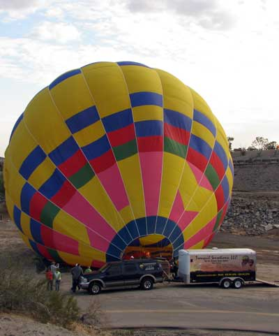 Surprise balloon launch while visit the Yuma Territorial Prison