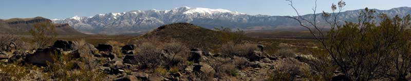 A view of the White Mountains from the Petroglyph site
