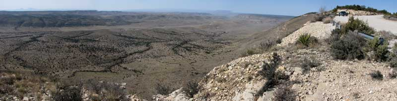 The view of the Guadalupe valley