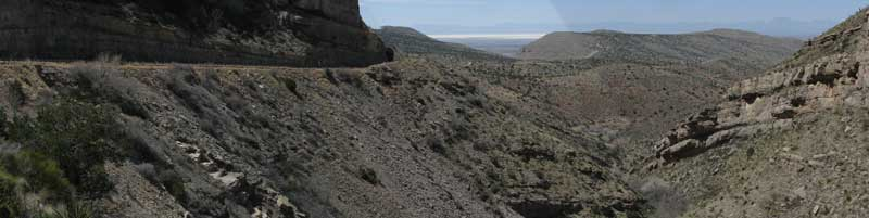 The steep grade from Cloudcroft to Alamogordo