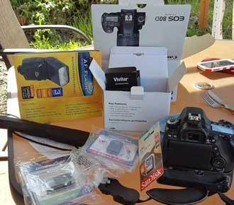 Canon 80D arrives