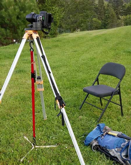 My setup for making a time lapse video