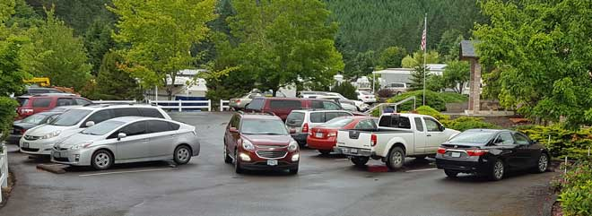 The parking lot is full of potential buyers.