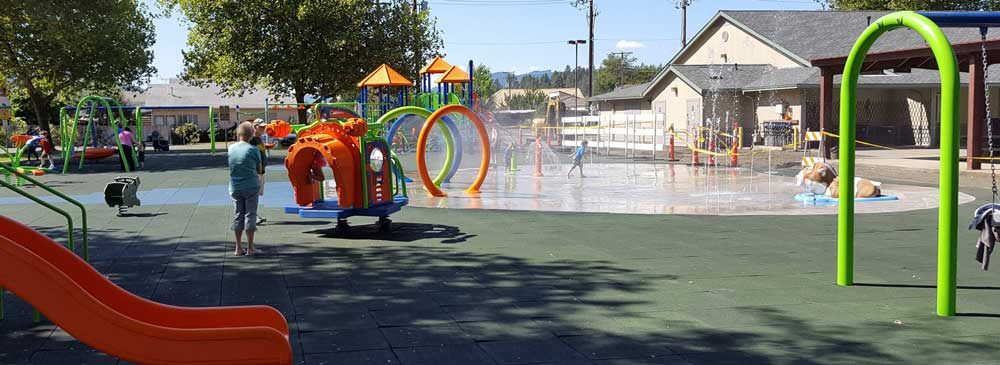 Sutherlin's big event for the summer was the completion of new playground equipment in the city park