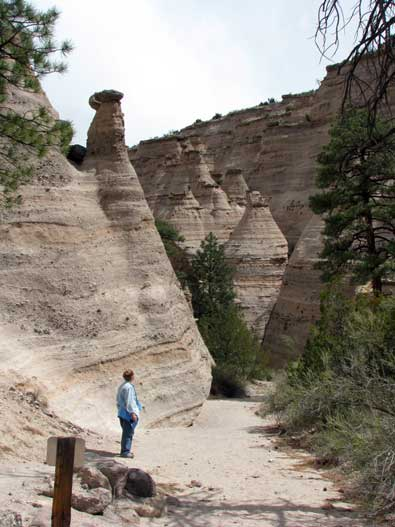 The beginning of the trailhead into Tent Rocks