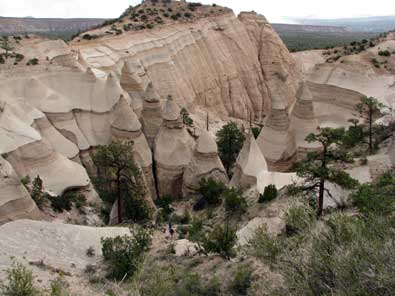 A perfect view of the tent rocks, click to see a wonderful, wider view