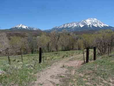 More views of the Spanish Peaks and Sangre de Cristo Mountains