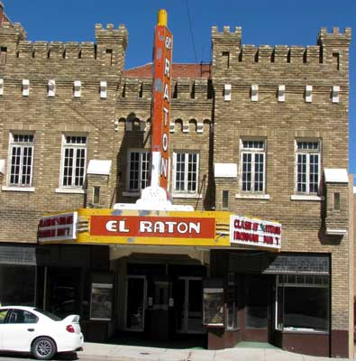 El Raton movie theater in historic downtown Raton