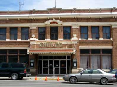 The historic Shuler Theater in downtown Raton