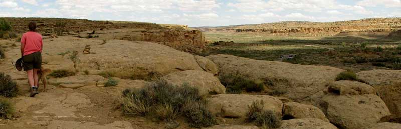 Visiting native american ruins in New Mexico