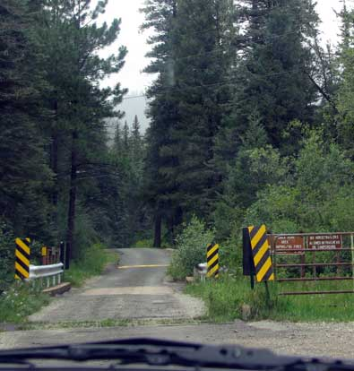 Single lane road toward Holy Ghost campground